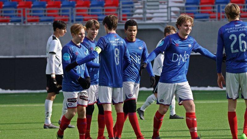 Juniorgutta kunne juble for seier over Odd i søndagens treningskamp (Foto: Kenneth Berger)