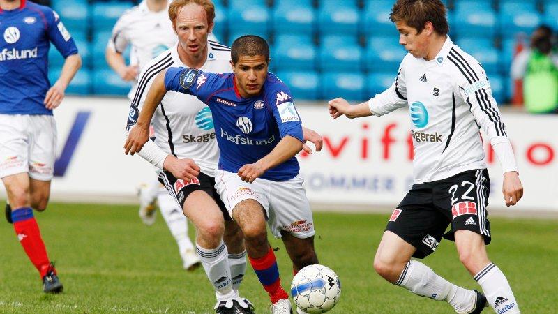 Amin Nouri fikk sitt gjennombrudd i Vålerenga i 2009. Her fra en kamp mot Odd på Ullevaal stadion (Foto: Heiko Junge / Scanpix)