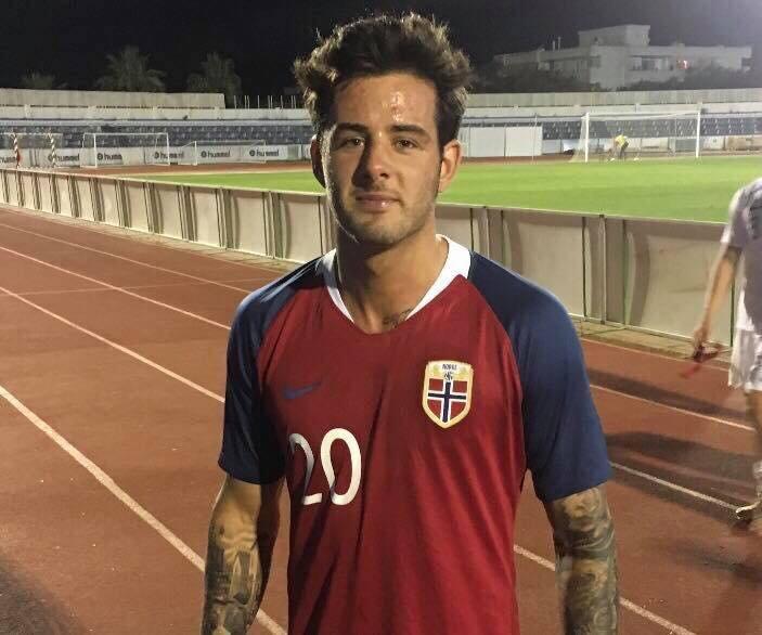 Aron Dønnum scora i landslagsdebuten for det norske U21-laget (Foto: Privat)