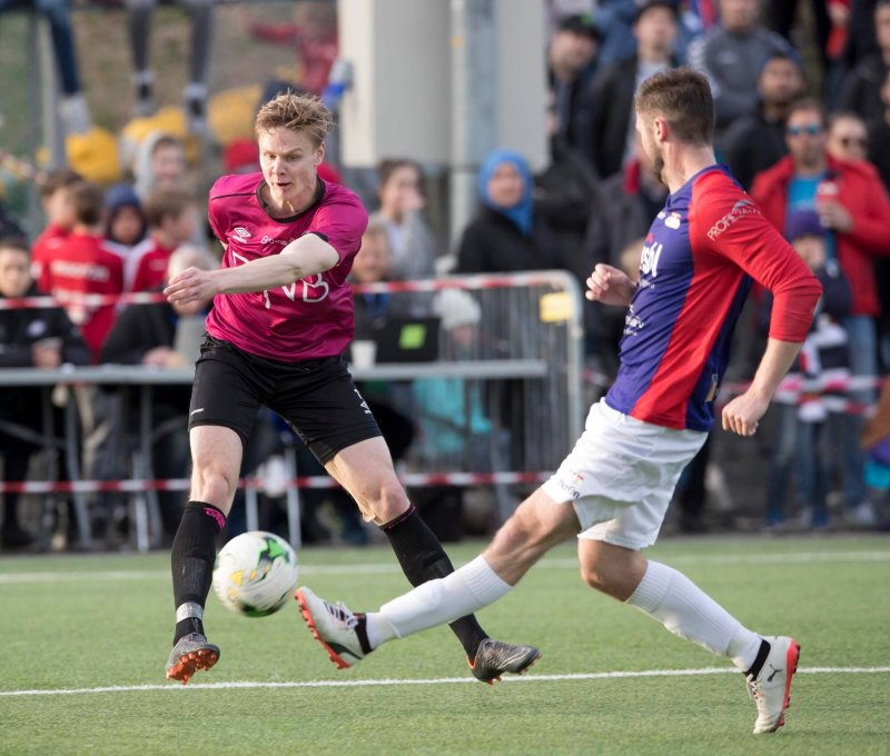 Simen Juklerød scora to mot Årvoll i onsdagens cupkamp (Foto: NTB Scanpix)