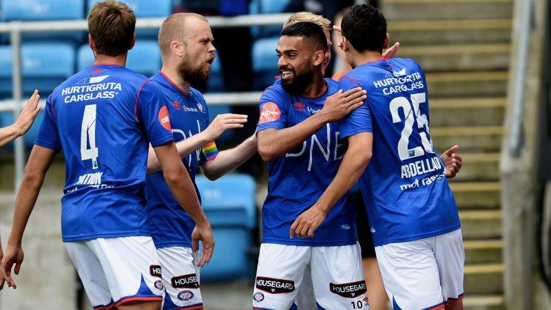 Gutta feirer Ghayas Zahids 1-1-scoring (Foto: Digitalsport)