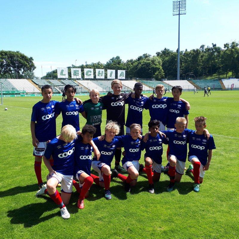 Vålerengas G13-lag fikk møte god motstand i Polen (Foto: Thomas Hasselgren)