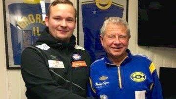 Roy Arne Berg (trenerutvikler i Vålerenga) t.v og Richard Pedersen (styreleder i Grorud) gleder seg til samarbeidet.