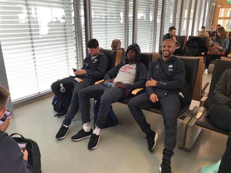 En meget blid og opplagt Amin Nouri er klar for mandagens møte mot FK Haugesund.