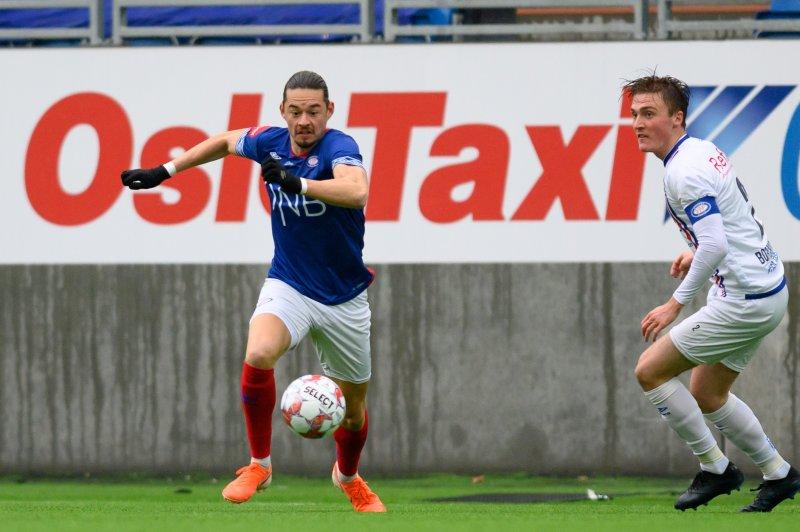 Amor Layouni scora to i onsdagens internkamp. Her fra lørdagens match (Foto: Morten Mitchell Larød / SPORTFOTO)