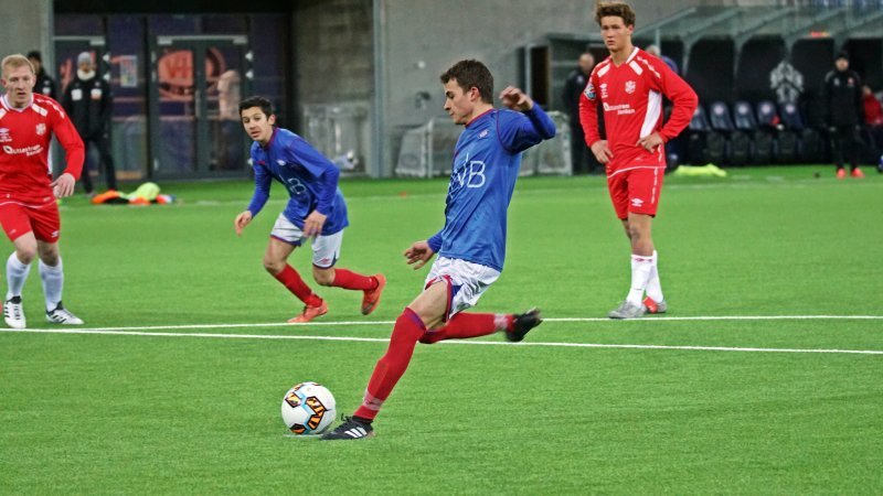 Vålerengas toppscorer i 2. divisjon fikk sin debut for A-laget i tirsdagens treningskamp (Foto: Kenneth Berger)