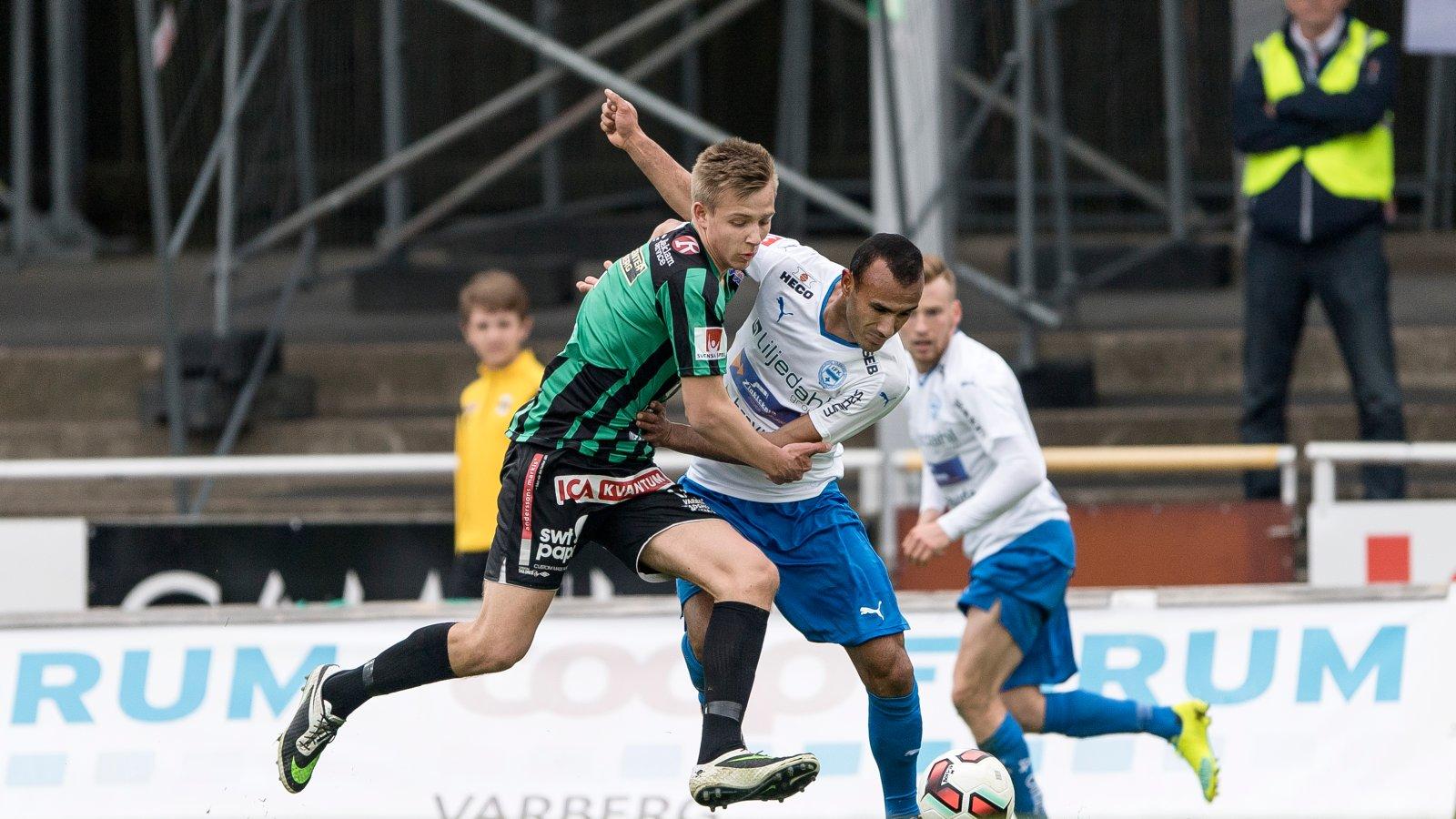 Ivan Näsberg i aksjon for svenske Varbergs BOIS.