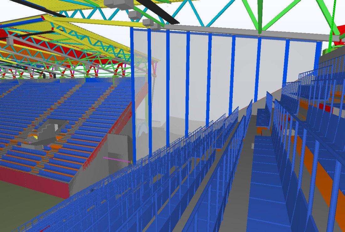 Illustrasjonsbilde av tribuneveggen på ny stadion