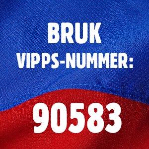 Bruk VIPPS-nummer: 90583