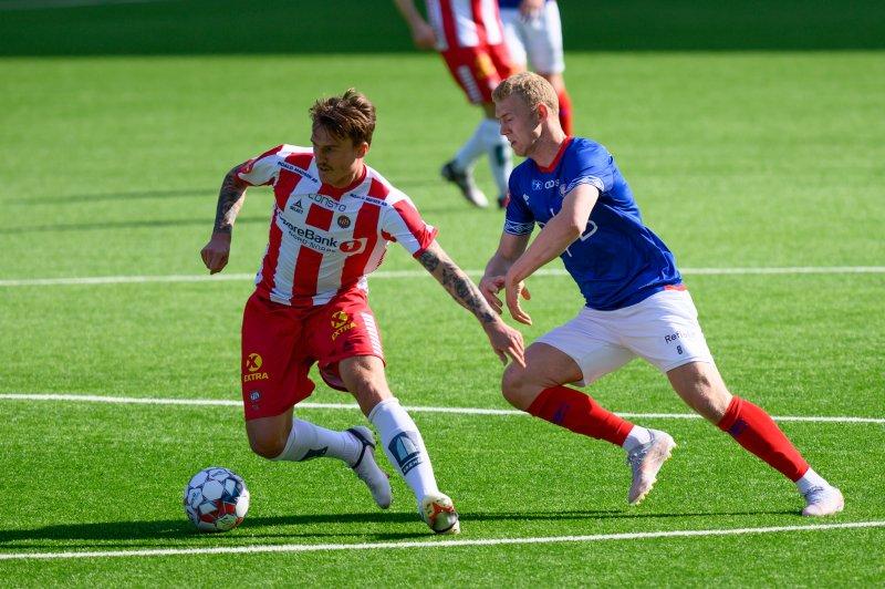 Henrik Bjørdal satte inn Vålerengas første i oppgjøret mot Tromsø (Foto: Morten Mitchell Larød / SPORTFOTO)