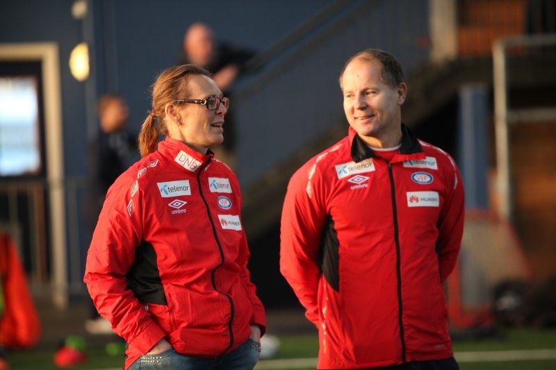 Mette Rosseland på årets første Vålerenga-trening