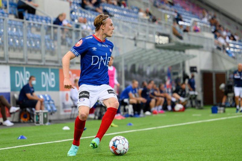 Christensen sto bak Vålerengas store sjanse før pause. Her fra en tidligere kamp på Intility Arena (Foto: Morten Mitchell Larød / SPORTFOTO)