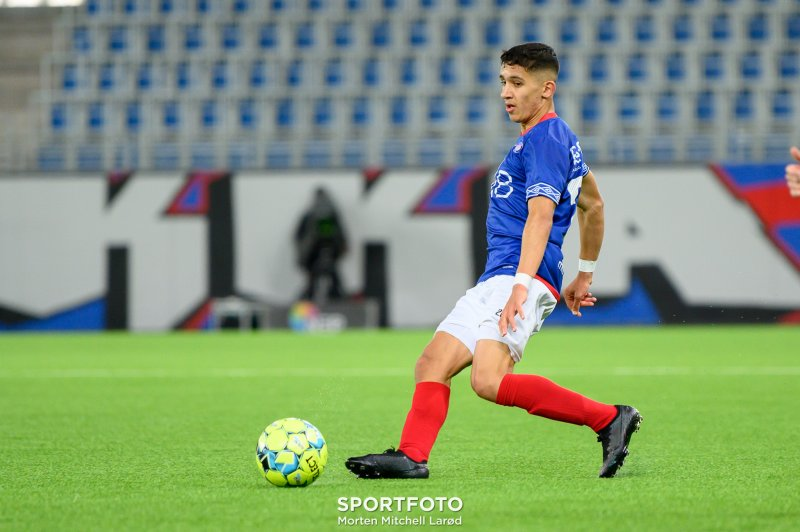 Sahraoui sto bak tre av fem mål før pause: Foto: (Morten Mitchell Larød / SPORTFOTO)