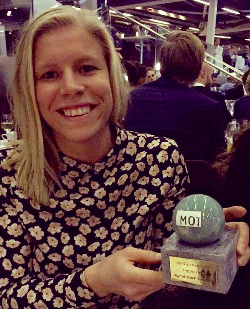 Ingrid Buer Søndenå mottok MOT-prisen 2017 (Foto: Hanne Mellingsæter)