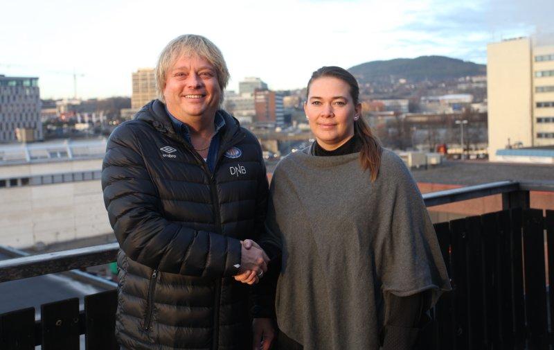 Vålerengas salgssjef, Glenn Jensen og markedssjef i Bakehuset, Gry Thomsen