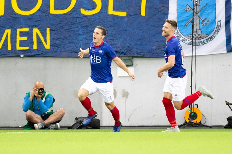 Super-Shala feirer 2-0-scoring mot Godset (Foto: Audun Braastad / NTB scanpix)