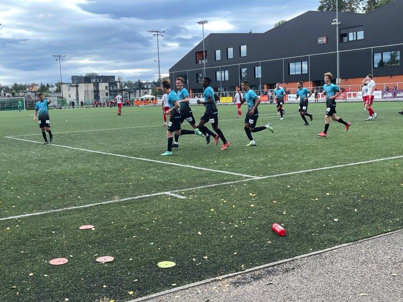 Christensen jubler for scoring, men gleden ble kortvarig (Foto: Mehran Amundsen-Ansari)