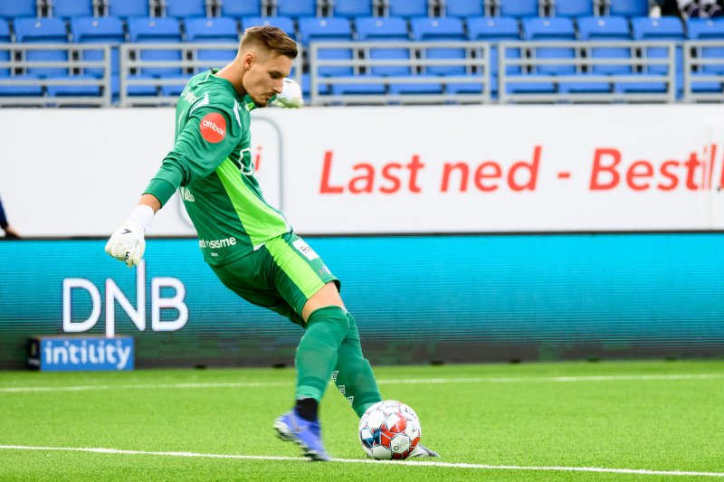 Kjetil Haug har holdt nullen i seks A-kamper på rad, men mot Ullern måtte han kapitulere (Foto: Morten Mitchell Larød / SPORTFOTO)